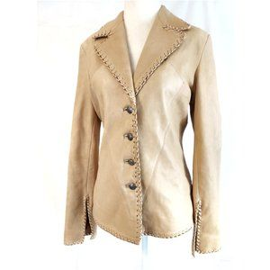 WESTERN Whipstich Exquisite Fitted Boho Jacket S